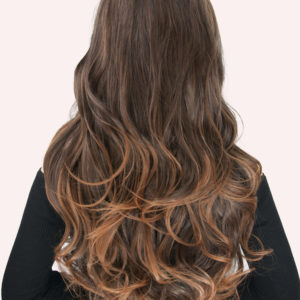 24 Super Thick 2 Pieces Ombre Curly Clip In Hair Extensions