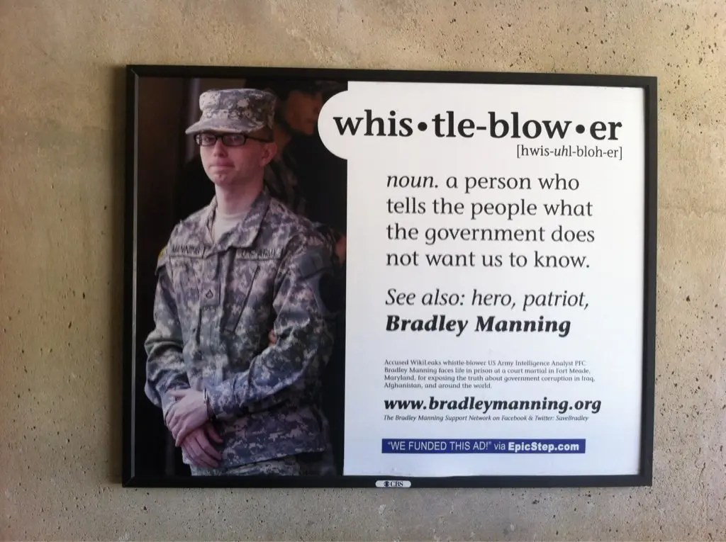 Photo: Ad Depicts Bradley Manning as 'Whistleblower' and 'Hero'
