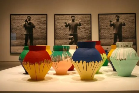 Ai Weiwei's Urn Series - Photos and Paint-Dipped