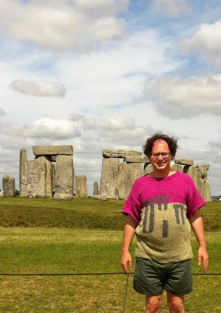 He Makes Sweaters of Places Then Takes Photos of Himself Wearing the Sweaters at the Places That Inspired Them