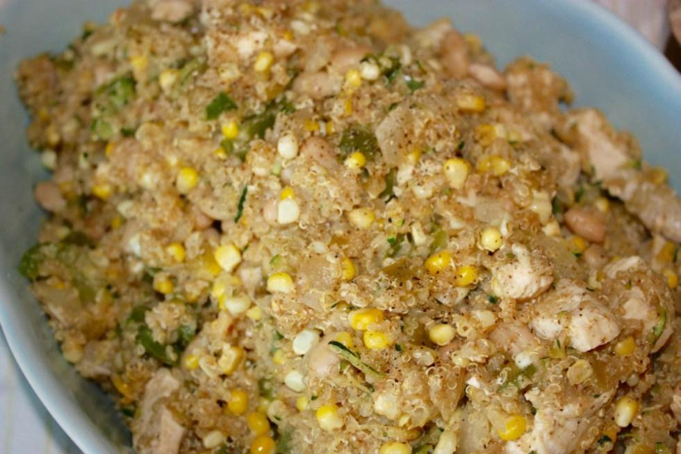 Chicken Corn Quinoa Casserole