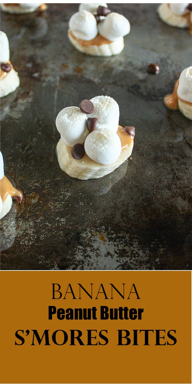 Banana Peanut Butter S'Mores Bites