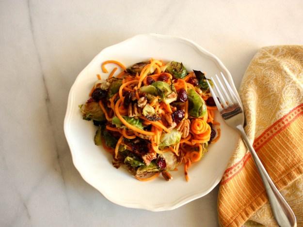 Maple Brussel Spiralized Salad