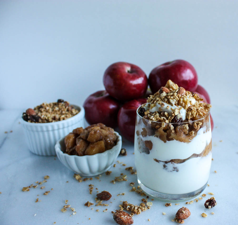 Parfait with Granola and Apple Compote
