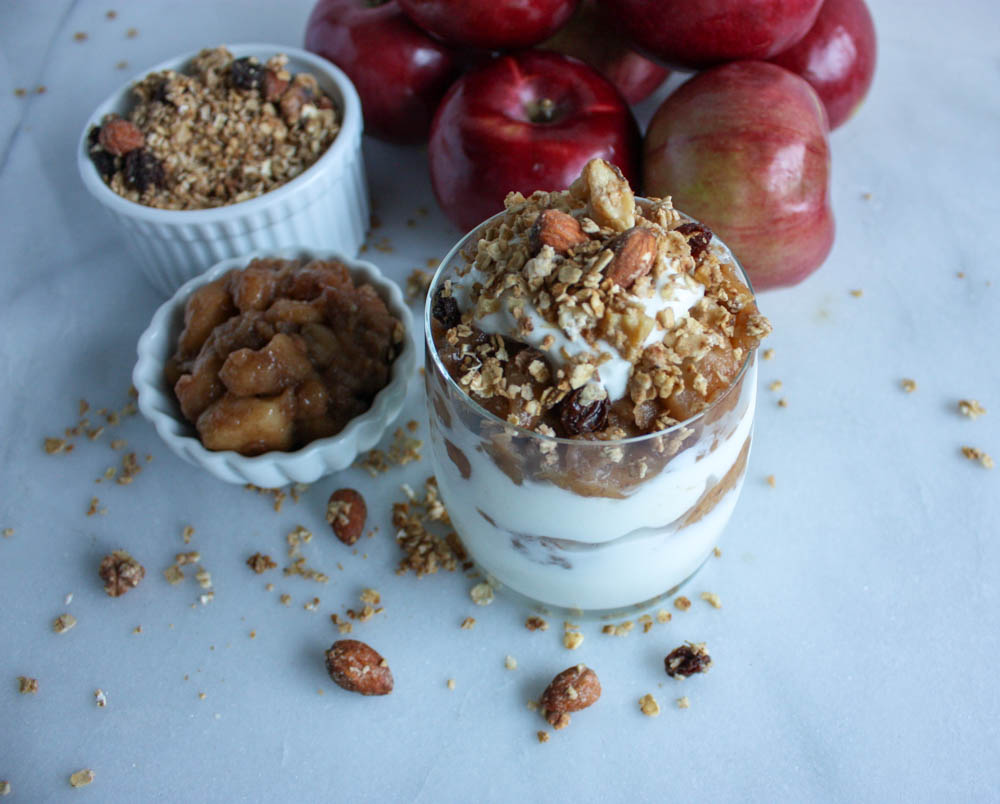 Fall Apple Compote Breakfast
