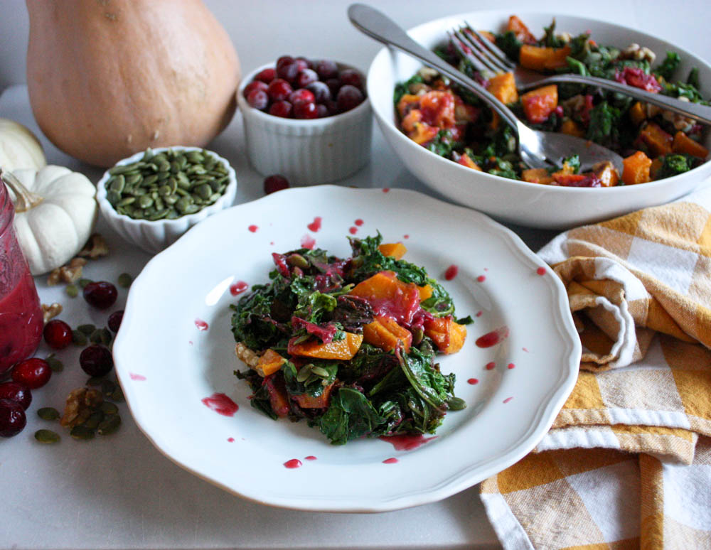 Cranberry, Kale & Butternut Salad