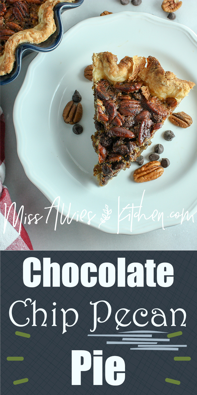 Chocolate Chip Pecan Pie - Celebrate the season with this decadent dessert