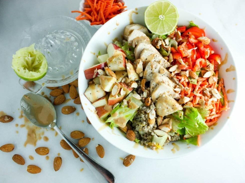 Tahini Veggie Salad - Meal Prep Made Easy