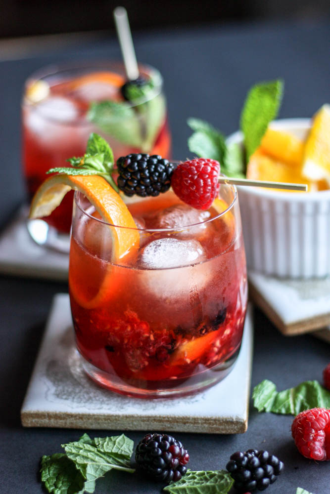 Red Raspberry Old Fashioned