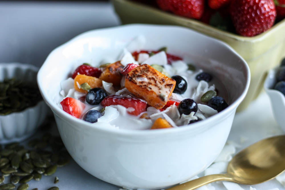 Roasted Sweet Potato and Coconut Bowl