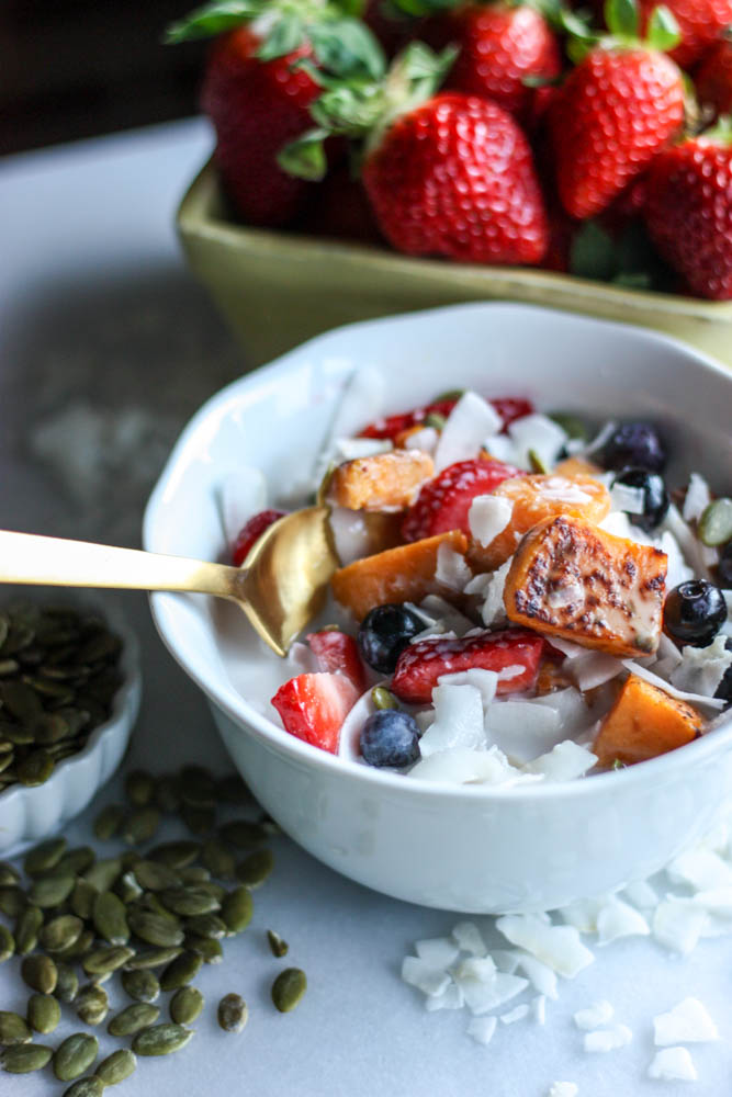 Roasted Sweet Potato Cereal Bowl