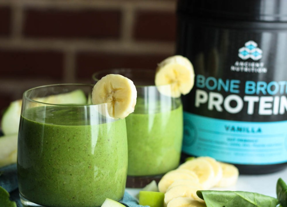 Bone Broth Protein to a Smoothie