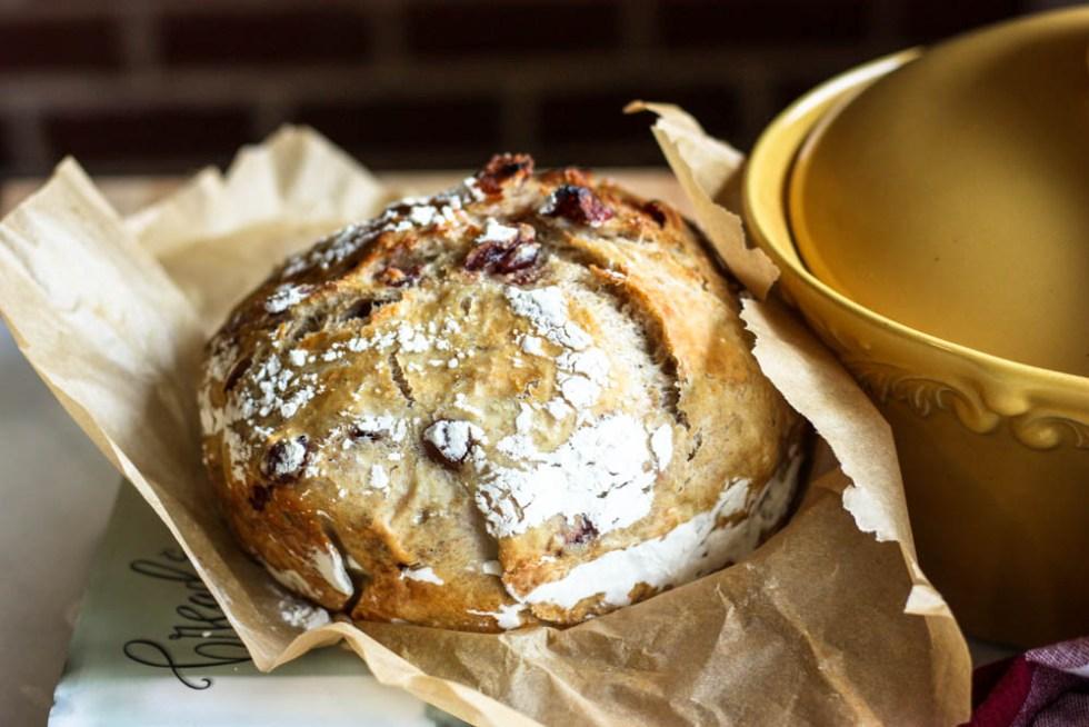 Cranberry Rosemary Magic Whole Wheat Bread