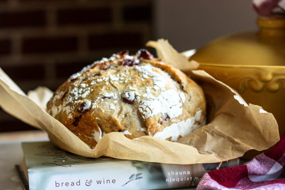 Cranberry Rosemary Magic Rise Bread