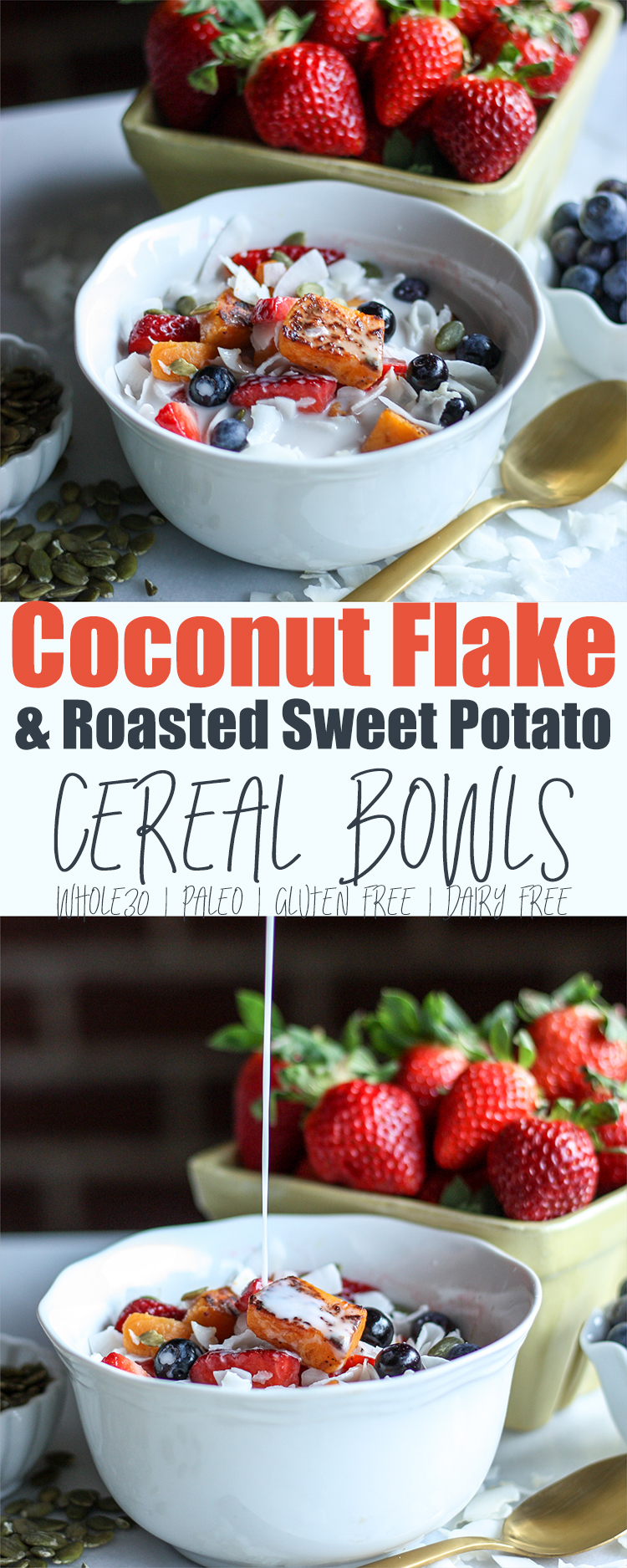 Coconut Flake and Roasted Sweet Potato Cereal Bowl