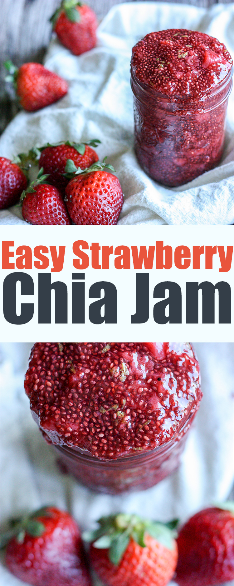 Easiest strawberry chia jam ever!