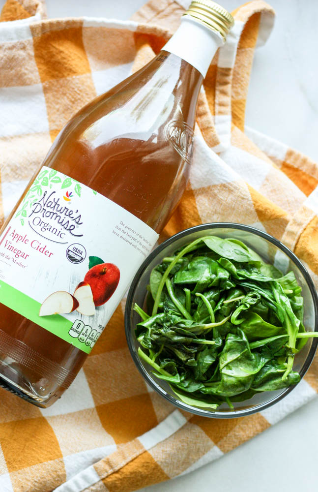 Apple Cider Vinegar Sautéed Spinach
