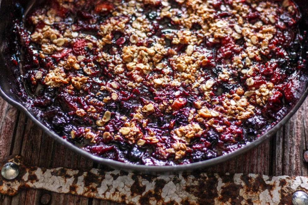 Gluten Free Berry Skillet Crisp