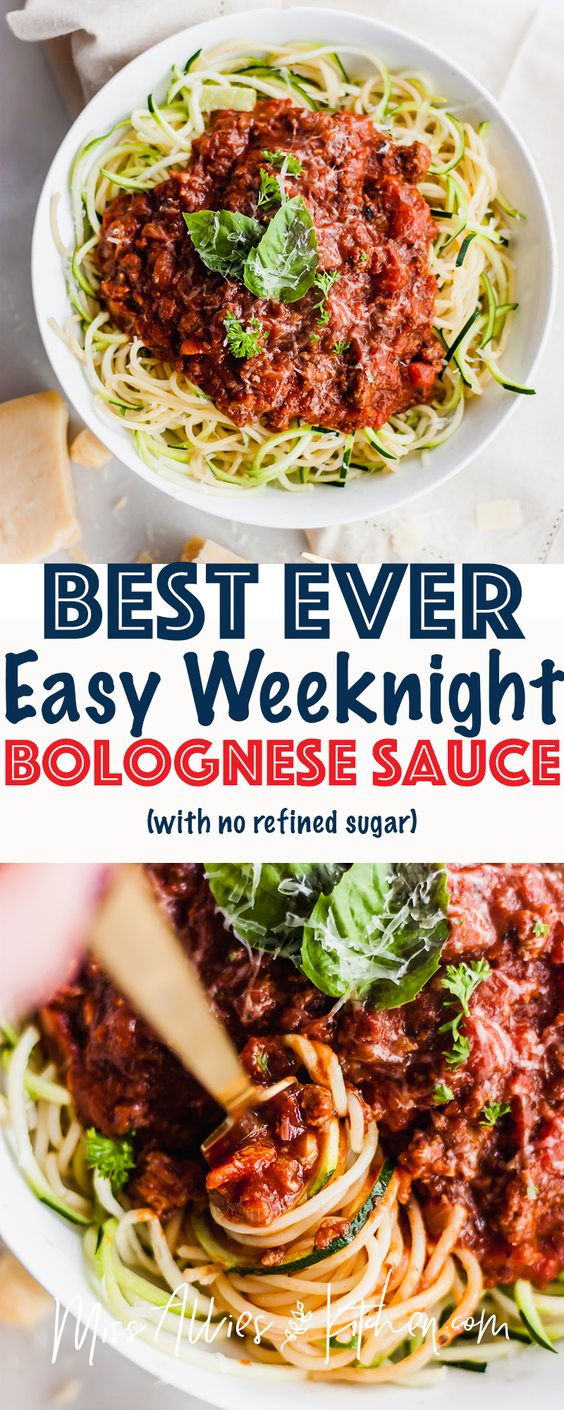 Best Ever Easy Weeknight Bolognese Sauce