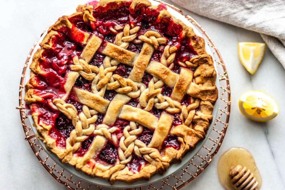 This classic Black Raspberry Pie recipe has blackberries and raspberries, touched with lemon and sugar, all baked in the best pie crust ever. Simple is best here.