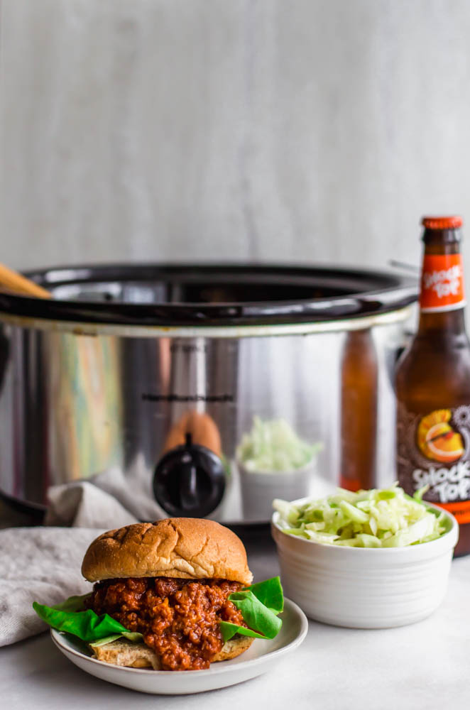 Make these Paleo Slow Cooker Sloppy Joes for your next backyard party so you don't have to turn on the oven or grill to have an awesome, healthy meal!