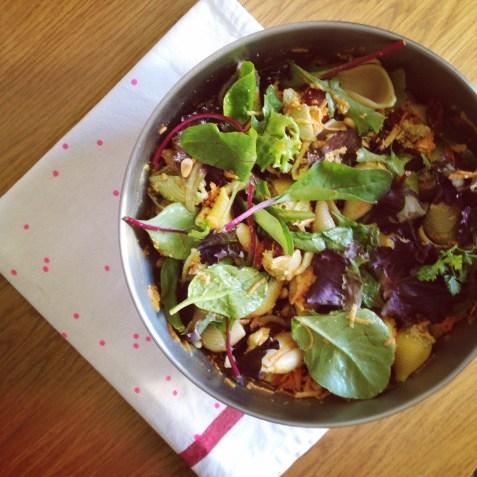 salade de pâte, pesto, carottes, tomates séchées et feta (2)