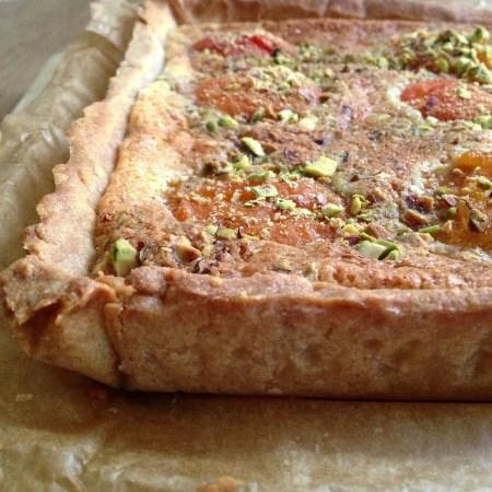 tarte abricot, crème d'amande et pistache (2)