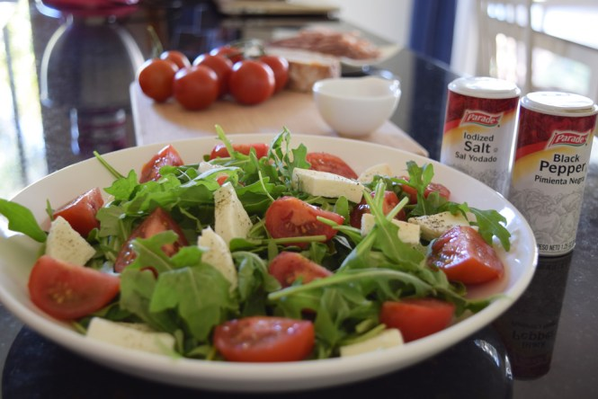 Tomato and Mozzarella salad with pumpkin seed oil