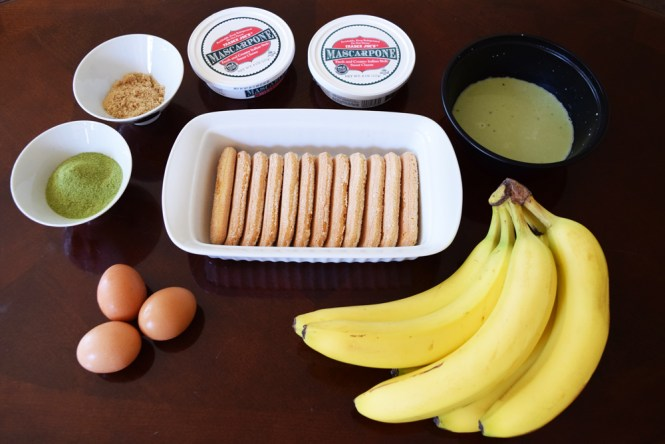Ingredients Seperate Eggs for Green Tea Matcha Banana Tiramisu