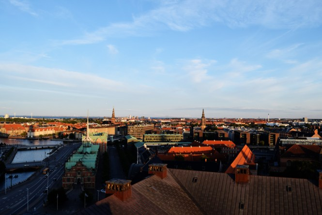 The view of Copenhagen from the Parlament Tower