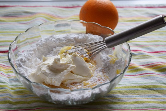 Icing for Orange, carrot, and pecan cake