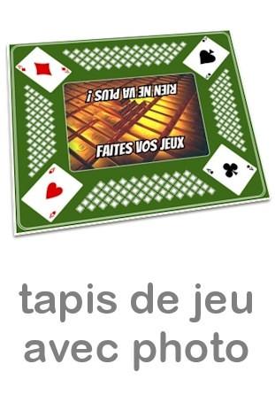 tapis pour jeu de cartes personnalise photo vert