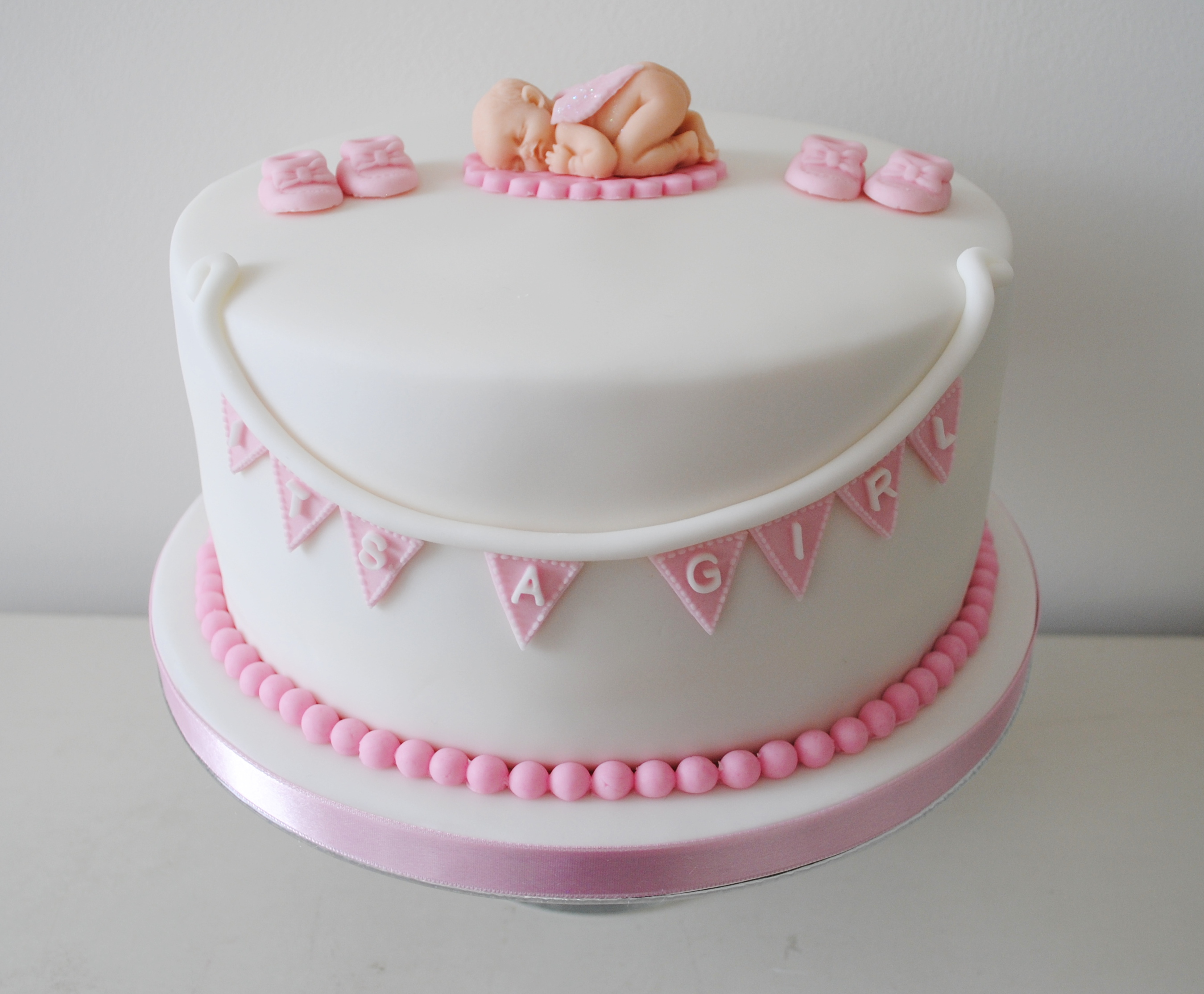 Miss Cupcakes Blog Archive Its A Girl Baby Shower Cake