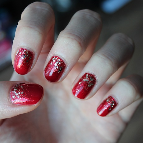 Christmas Nails Red And Gold Miss Danielle