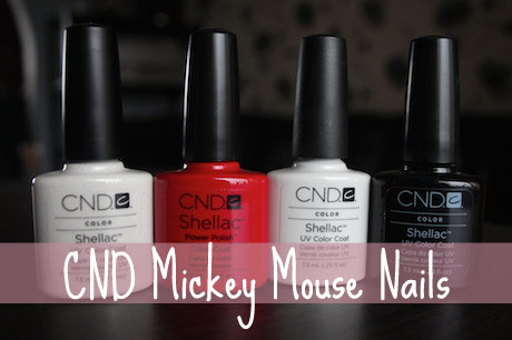 CND Shellac Mickey Mouse Inspired Nails
