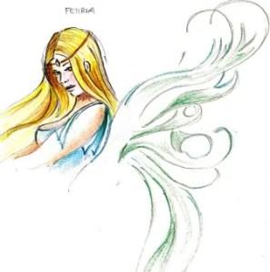 Una Feiiria disegnata da Elena Garzilli, saga delle terre