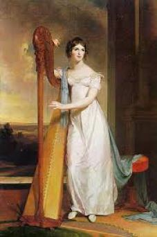 Lady with Harp, Eliza Ridgely, 1818