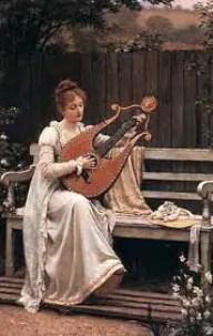 Edmund Blair Leighton - Con amore - educazione femminile