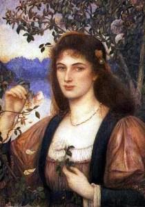 A Rose from Armida's Garden (una rosa dal giardino di Armida) del 1894, di Marie Spartali Stillman