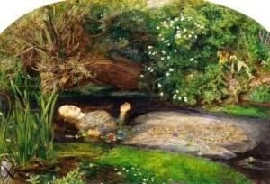 Ophelia by John Everett Millais preraffaeliti