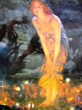 """""""Midsummer Eve"""" by Edward Robert Hughes"""