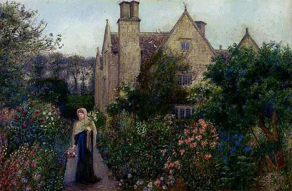 Marie Spartali Stillman   The Long Walk At Kelmscott Manor Oxfordshire
