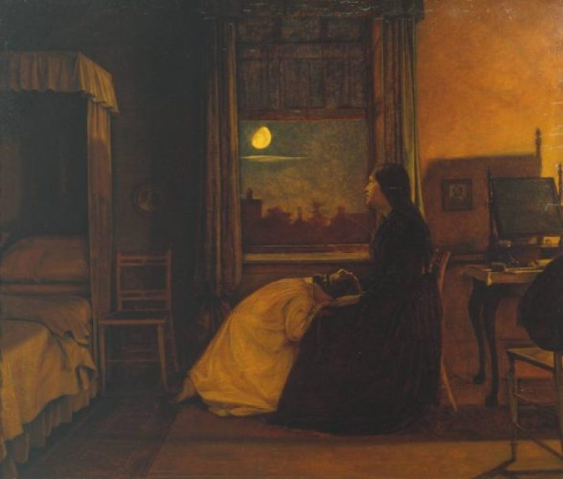 Past and Present, No. 2 1858 Augustus Leopold Egg 1816-1863 Presented by Sir Alec and Lady Martin in memory of their daughter Nora 1918 http://www.tate.org.uk/art/work/N03279