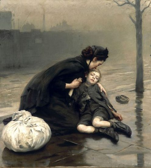 maternità nell'epoca vittoriana