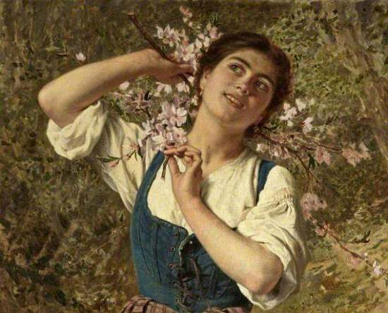 Sophie Gengembre Anderson Capri Girl with Flowers