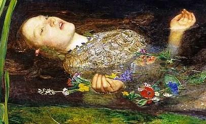 Ophelia di John Everett Millais