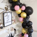 Diy Glam Halloween Balloon Garland Decor