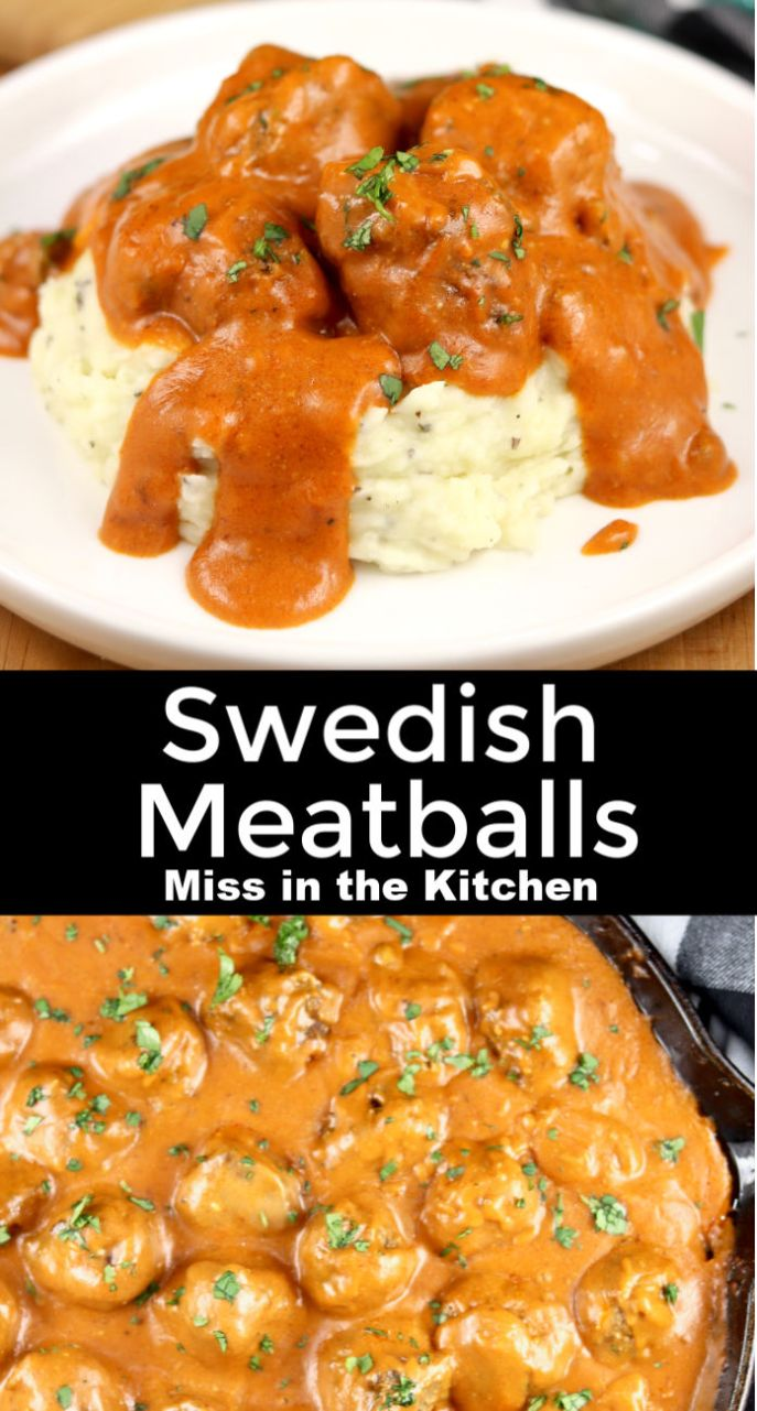 Swedish Meatballs and mashed potatoes