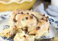 Chocolate Chip Sweet Rolls with Peanut Butter Icing