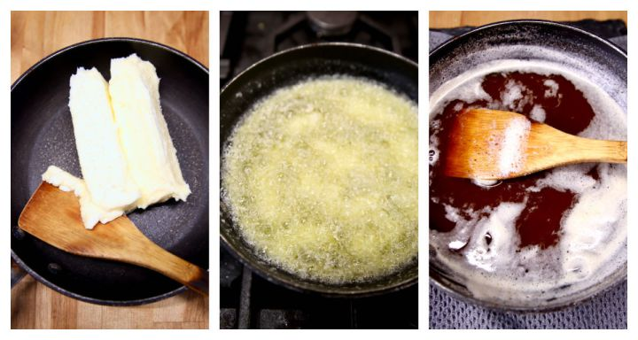 collage - making brown butter